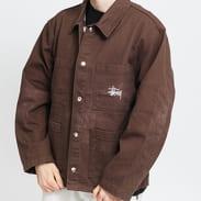 Stüssy Spotted Bleach Chore Jacket hnědá