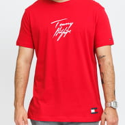 Tommy Hilfiger CN SS Tee Logo červené