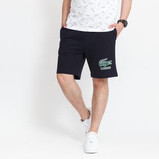 LACOSTE Men's Print Logo Cotton Fleece Shorts