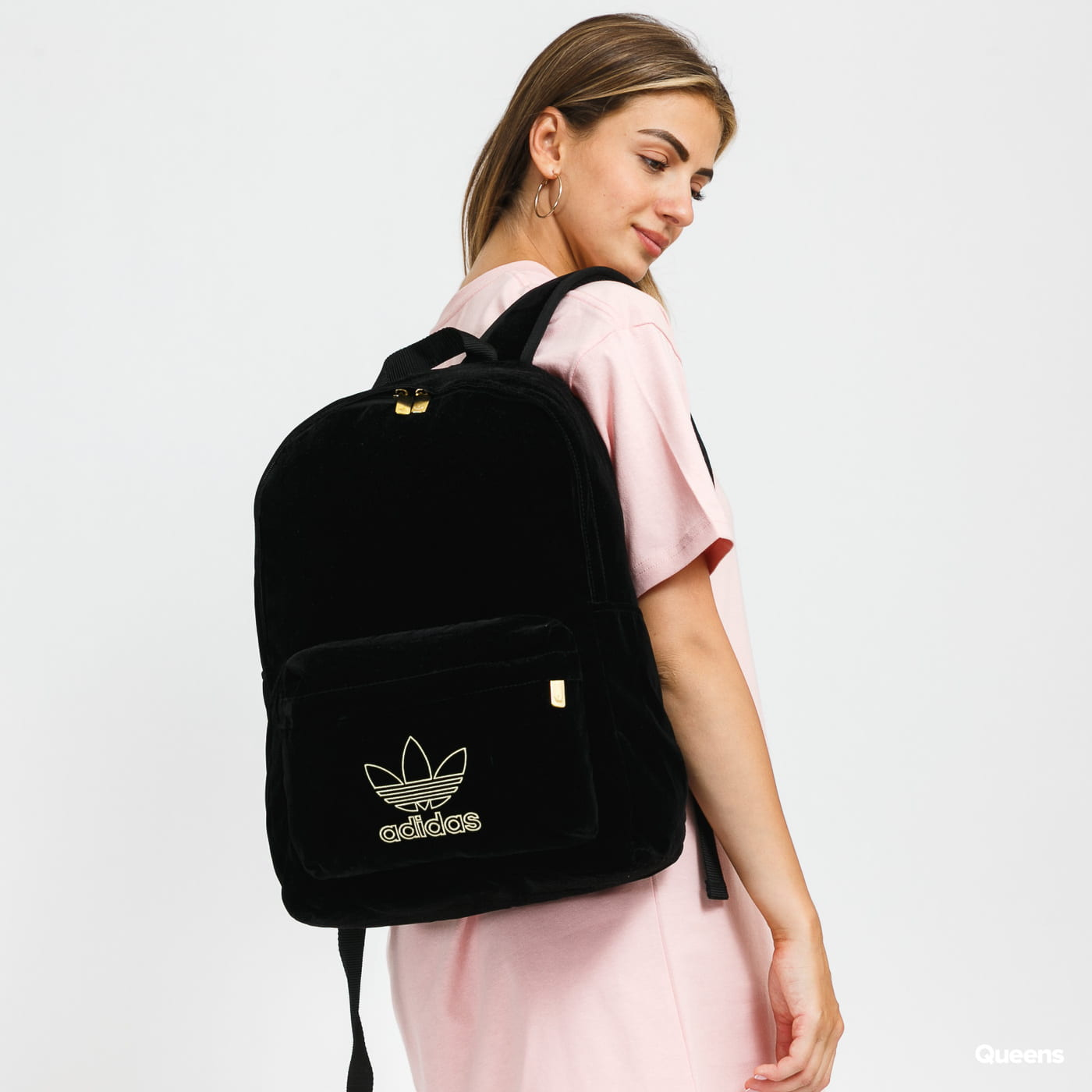 adidas Originals ADI Velvet Backpack černý