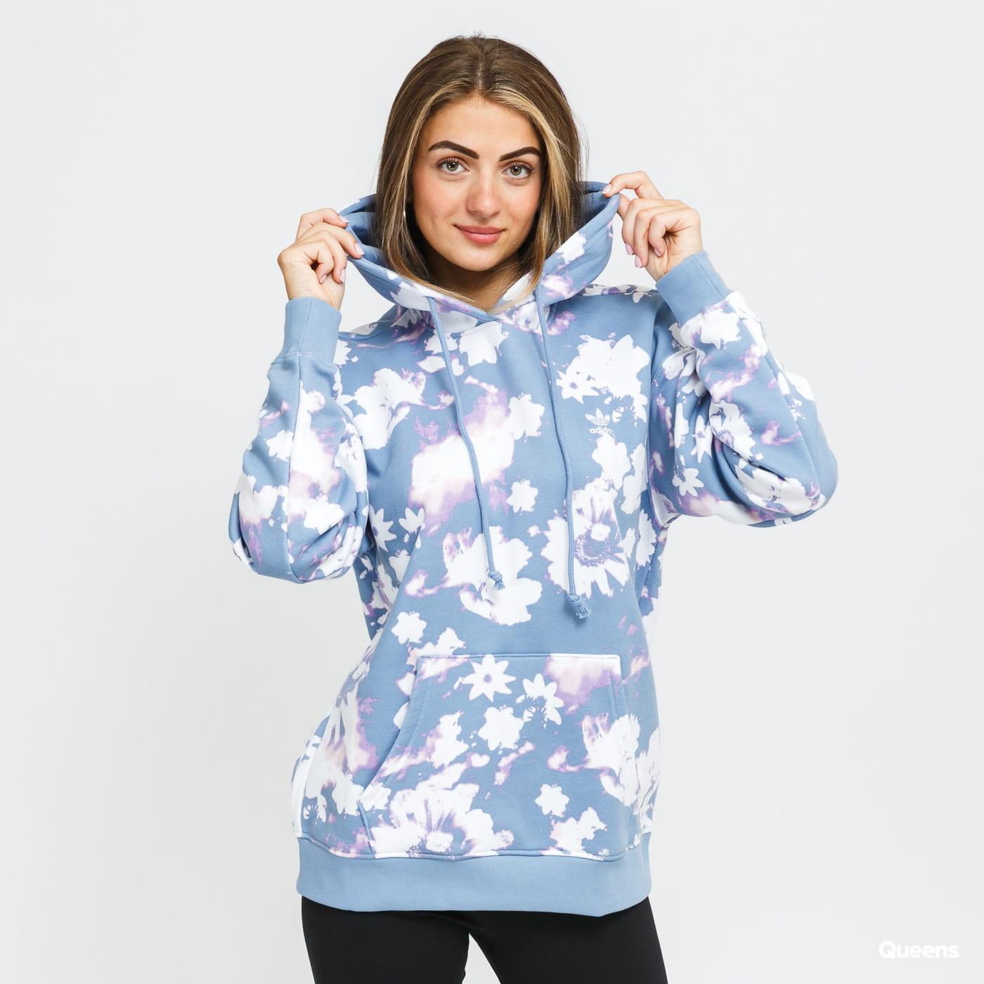 adidas Originals Hoodie modrá / bílá / fialová