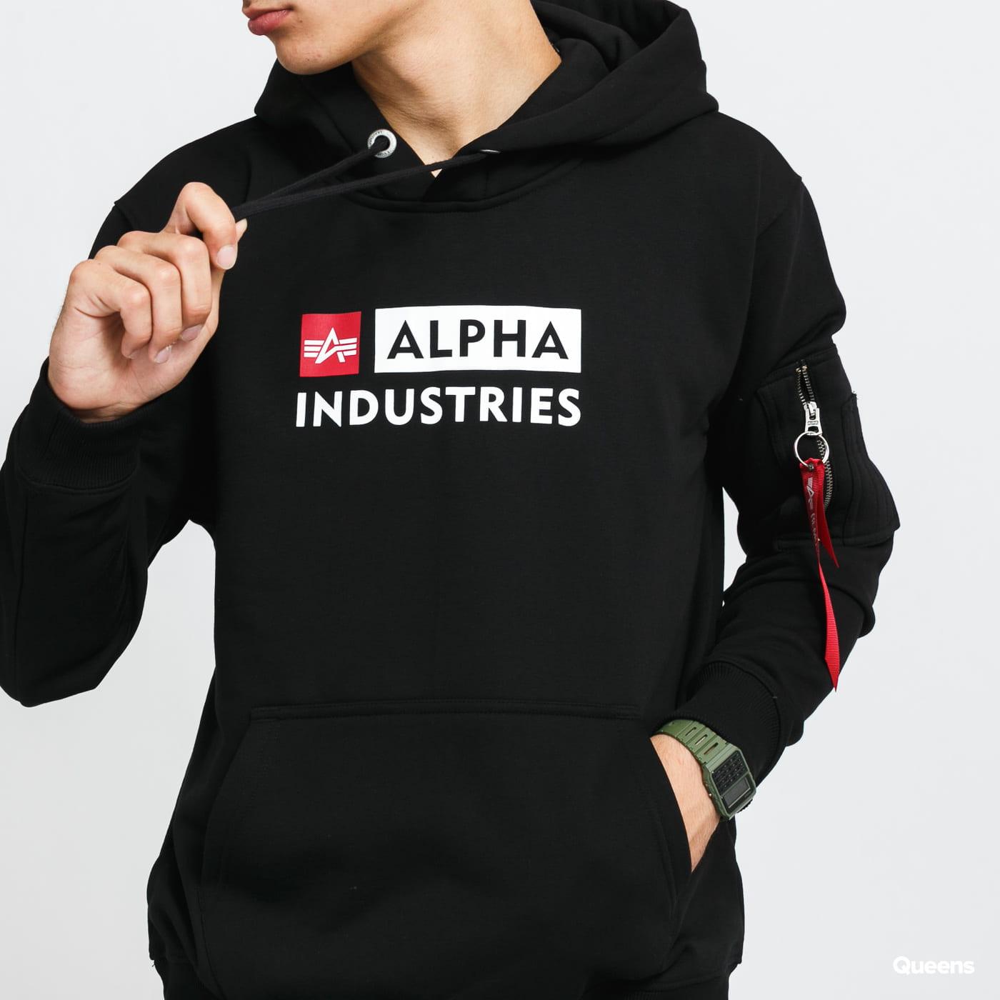 Alpha Industries Alpha Block-Logo Hoody černá