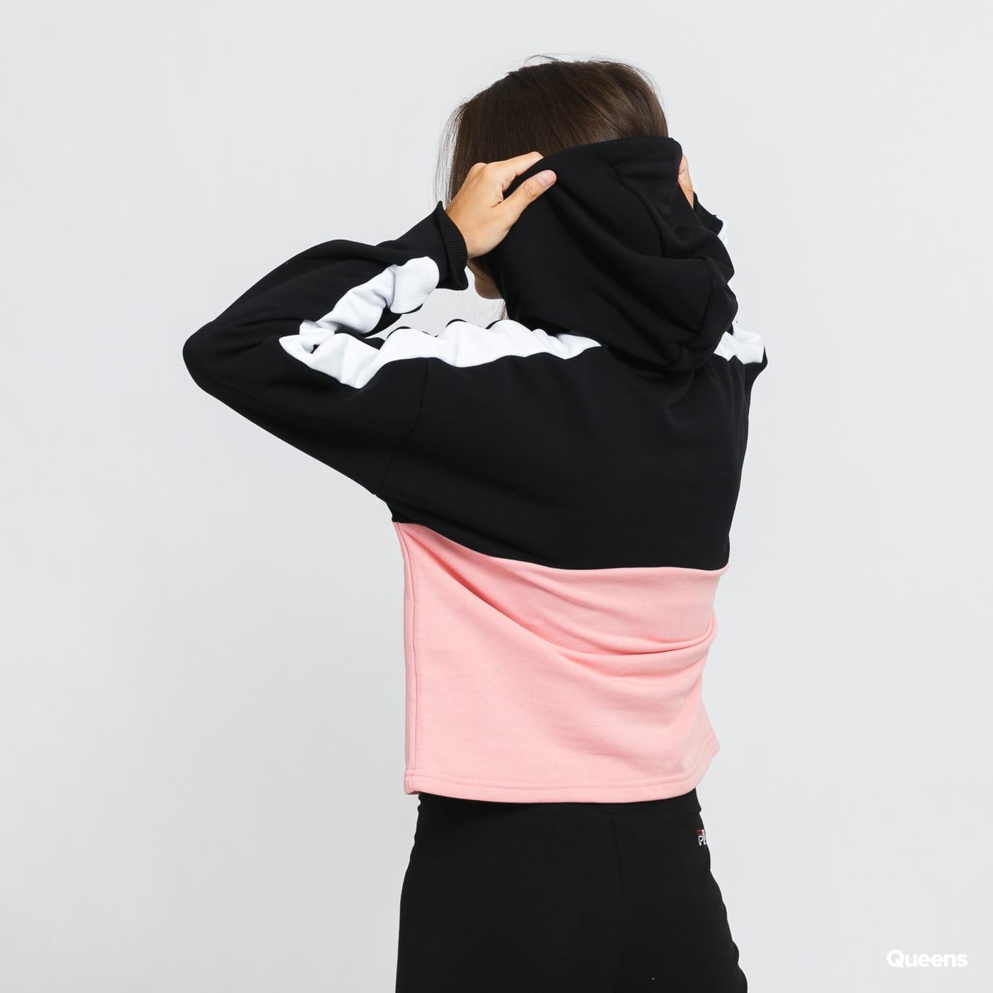 Fila W Damita Hoody černá / růžová / bílá
