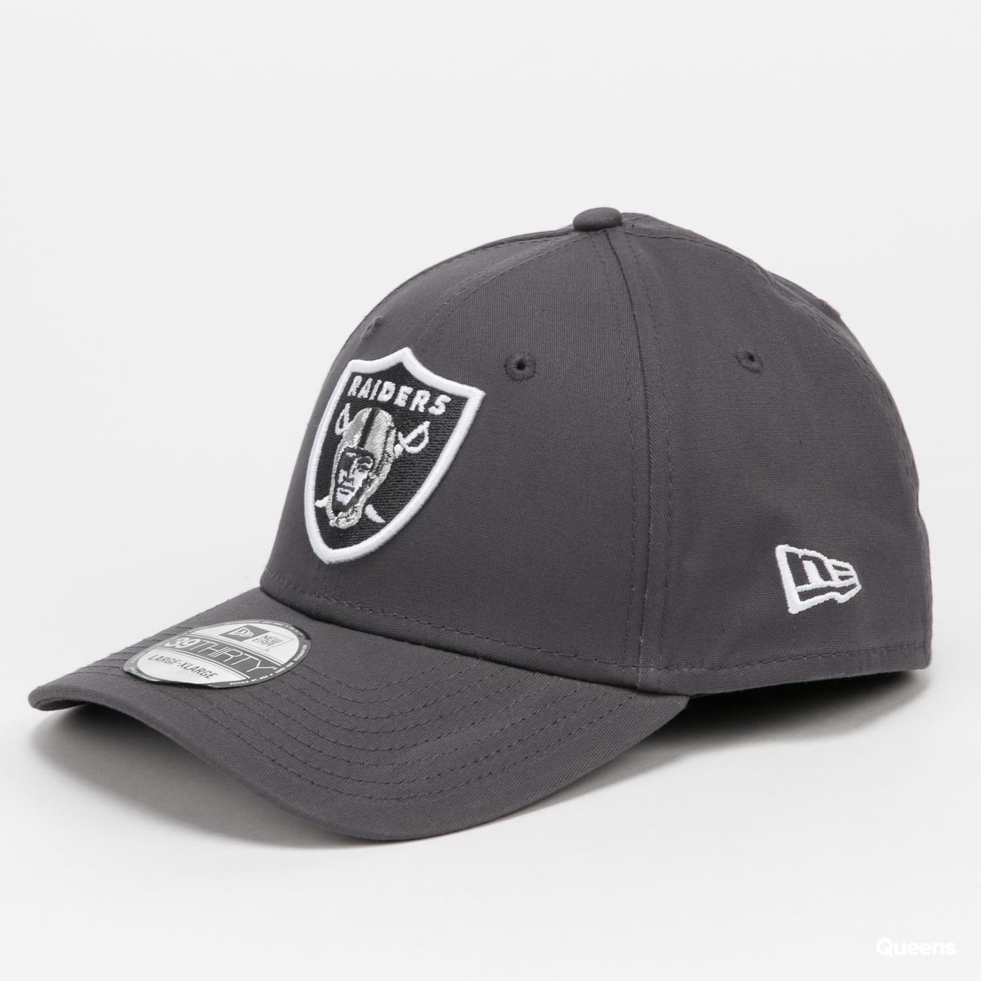 New Era 3930 NFL Gray Pop Raiders dark gray