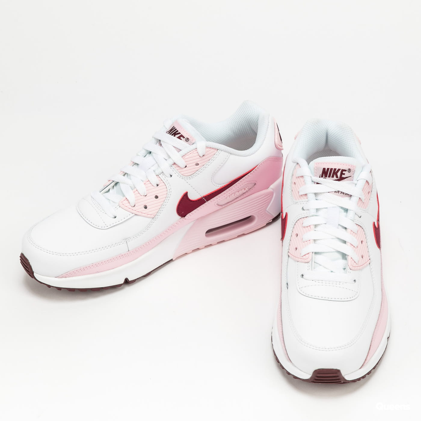 Nike Air Max 90 Leather (GS) white / dark beetroot - pink foam