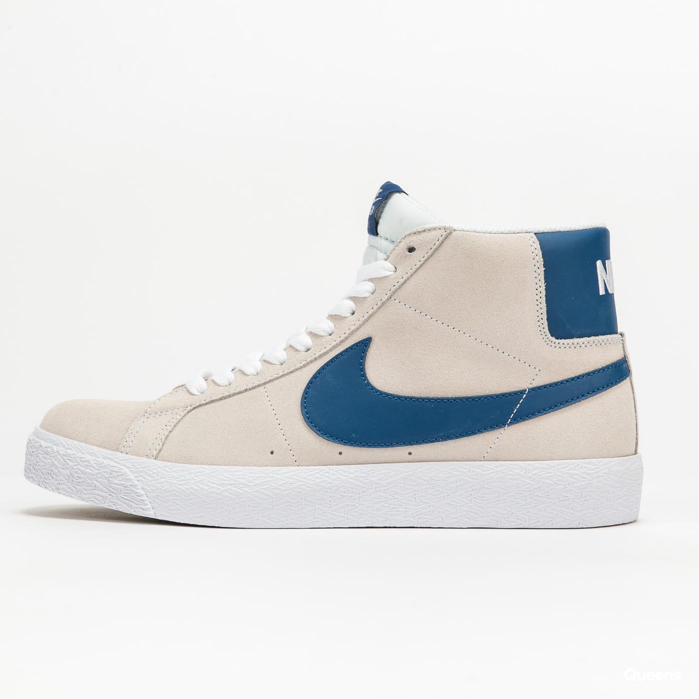 Nike SB Zoom Blazer Mid white / court blue - white - white