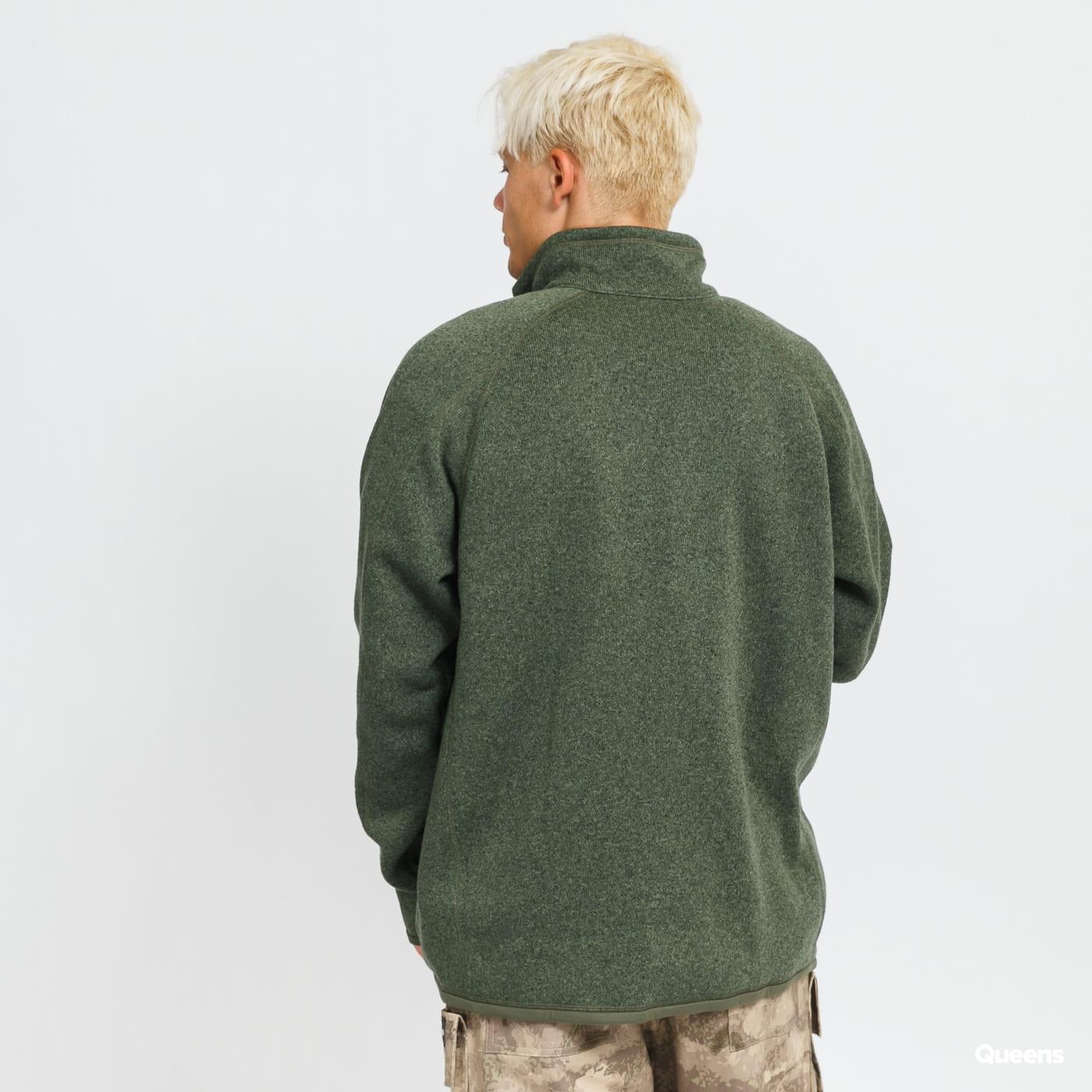 Patagonia M's Better Sweater 1/4 Zip melange tmavě zelený