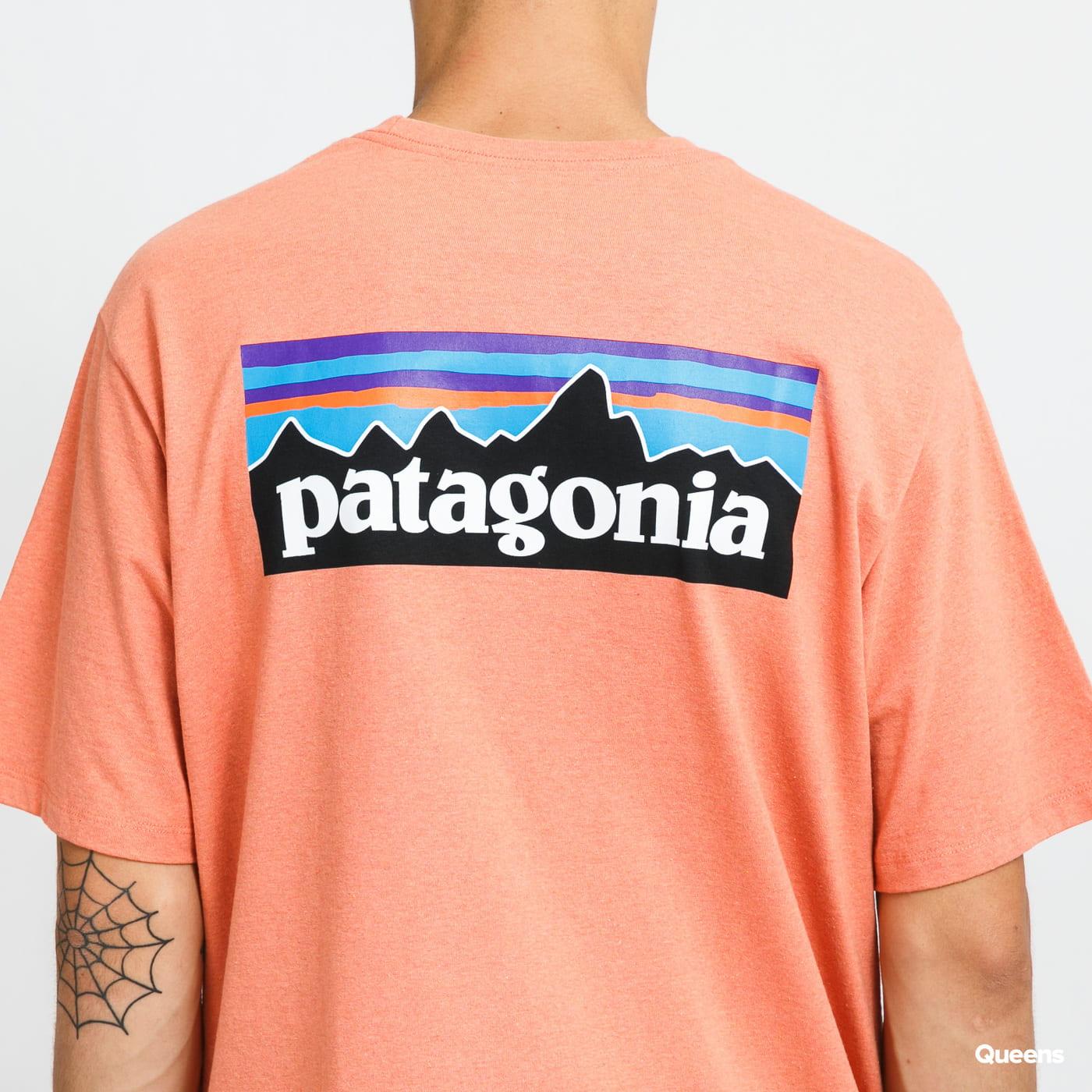 Patagonia M's P6 Logo Responsibili Tee melange salmon pink
