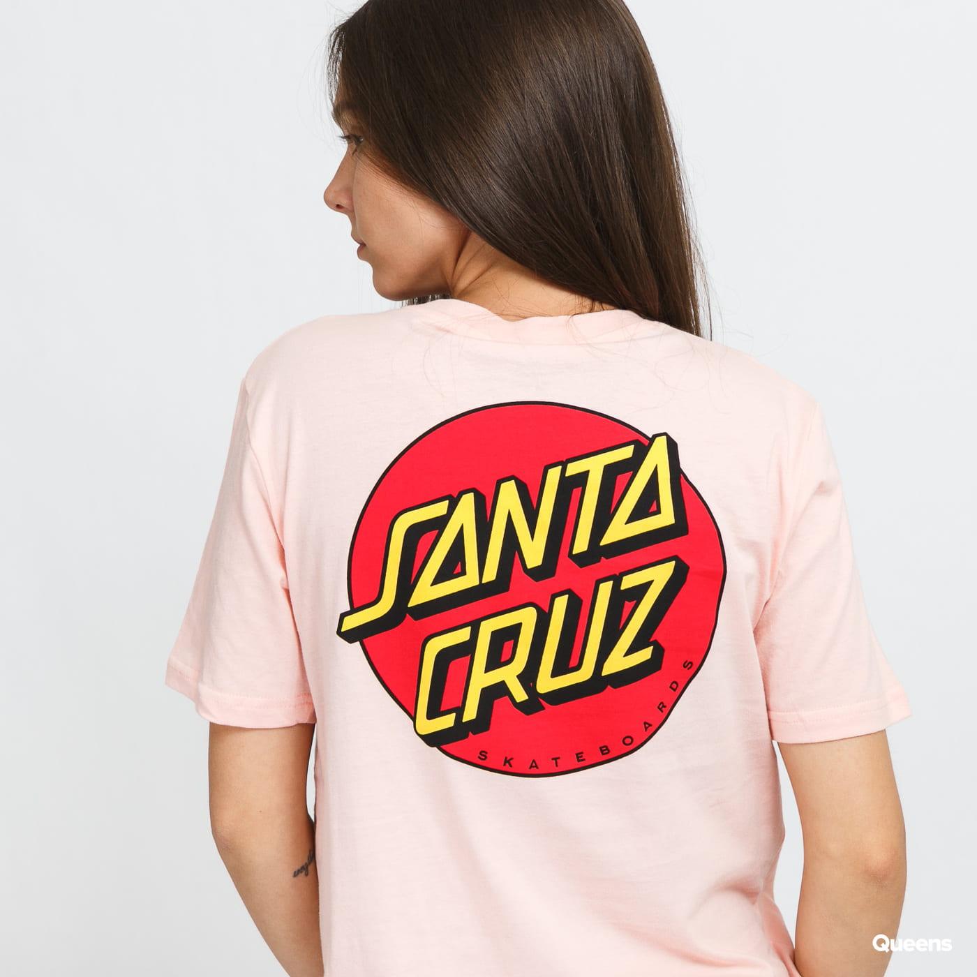 Santa Cruz W Classic Dot Tee lososové