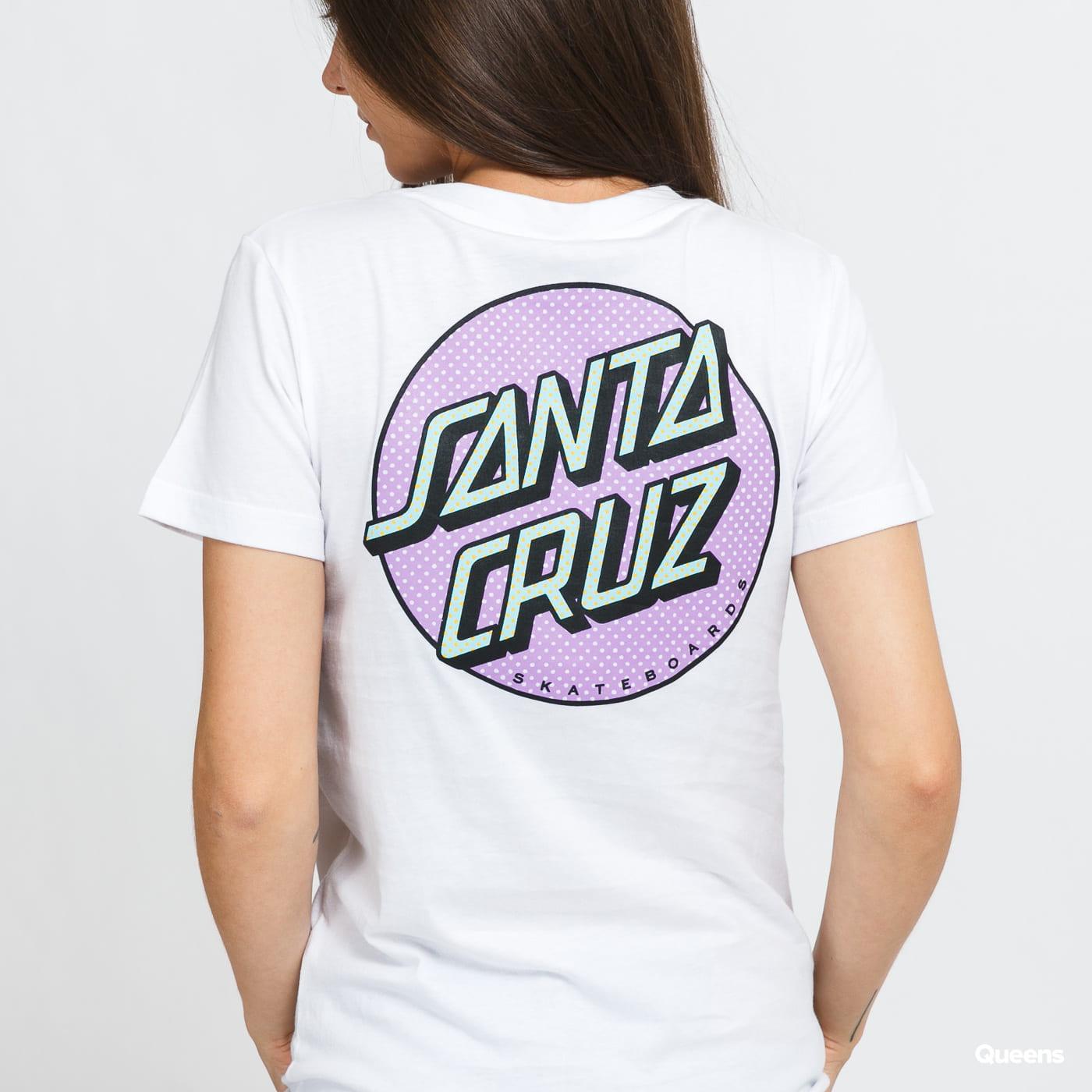 Santa Cruz W Process Dot Tee bílé