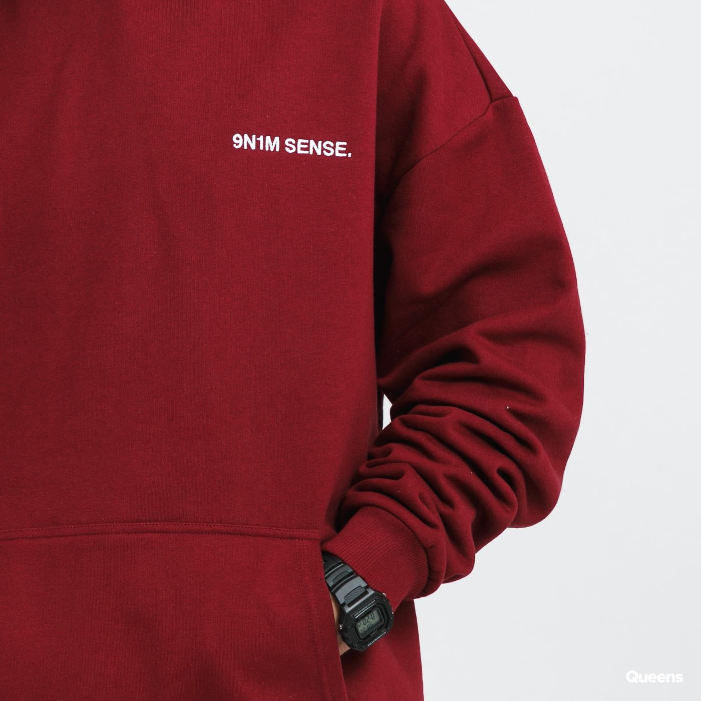9N1M SENSE. Logo Hoodie bordeaux
