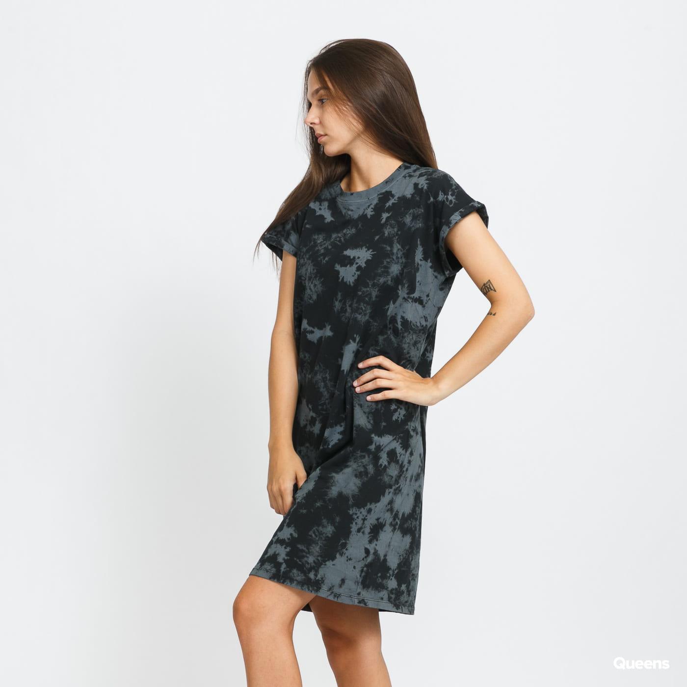 Urban Classics Ladies Bleached Dress černé / tmavě šedé