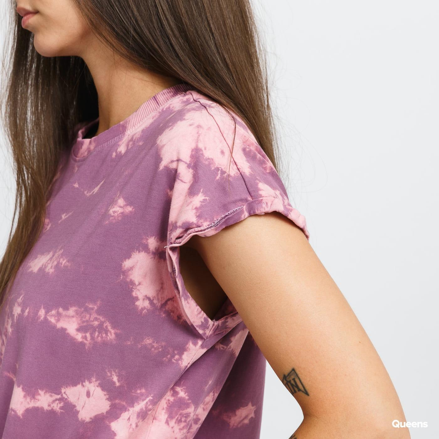 Urban Classics Ladies Bleached Dress fialové / růžové
