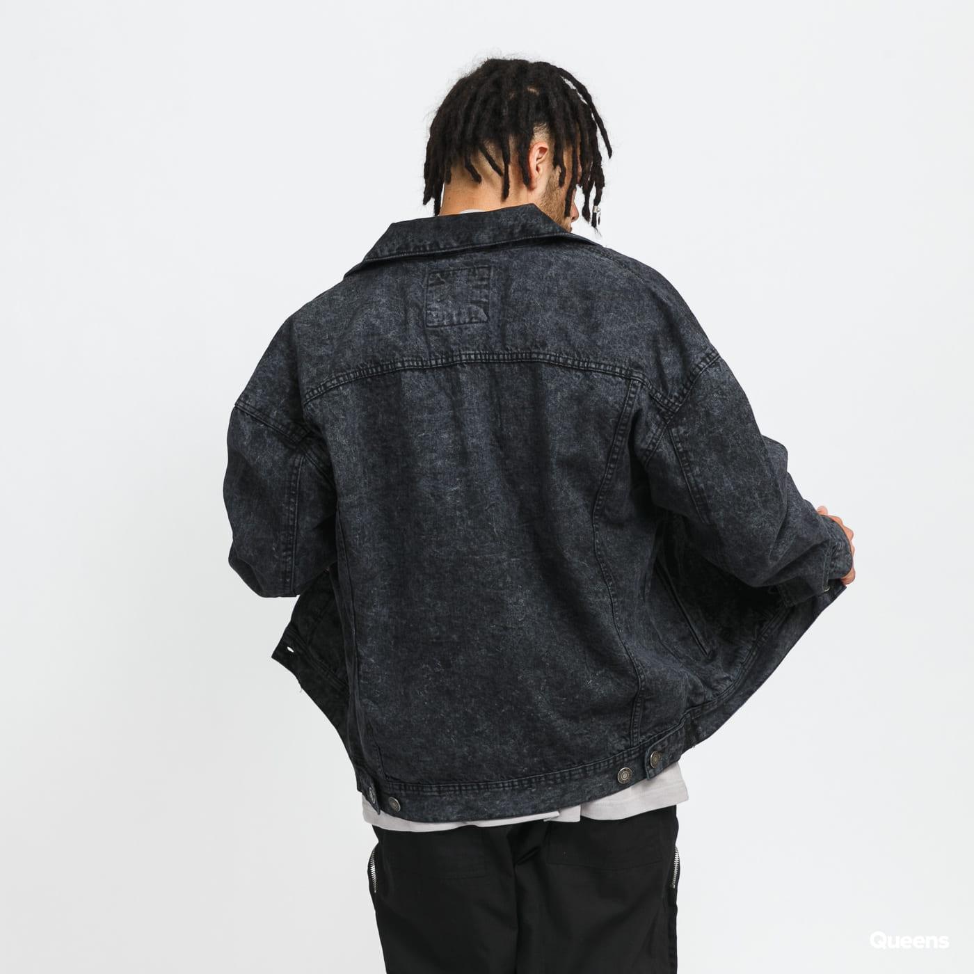 Urban Classics Oversized Denim Jacket black stone washed