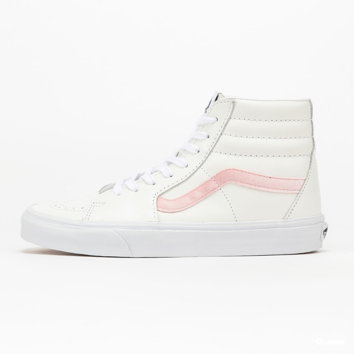 Vans Sk8-Hi (velvet sidestrap) powder pink / true white