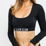 Calvin Klein LS Swimwear Top black stone washed no length