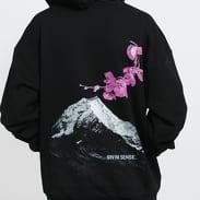 9N1M SENSE. Flower Mountain Hoodie černá