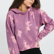 Urban Classics Ladies Oversized Short Bleached Hoody fialová / růžová