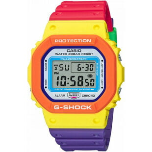 """Casio G-Shock DW 5610DN-9ER """"Psychedelic Multi Colors Series"""""""