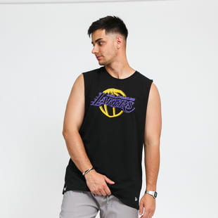New Era NBA Neon Sleeveless Tee LA Lakers