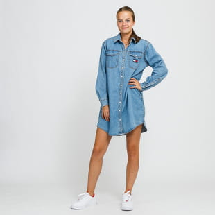TOMMY JEANS W Relaxed Denim Shirt Dress