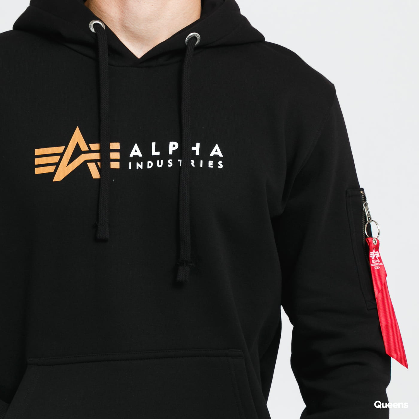 Alpha Industries Alpha Label Hoody gray / beige / pink / black