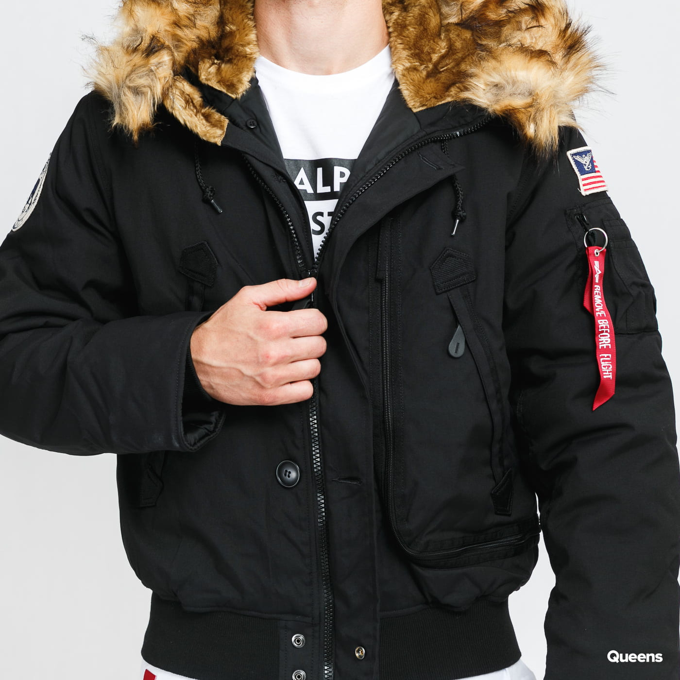 Alpha Industries Polar Jacket SV gray / beige / pink / black