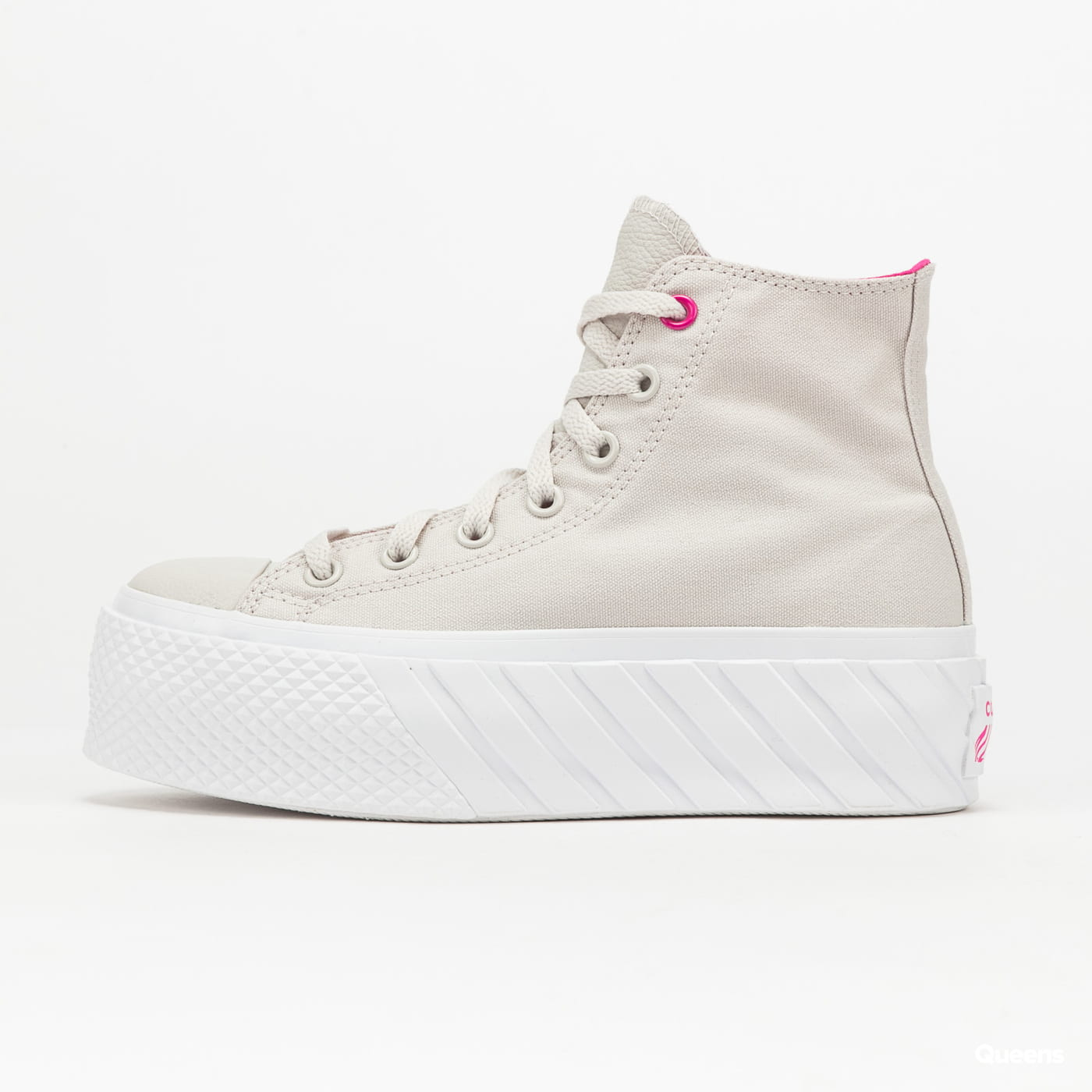 Converse Chuck Taylor All Star Lift 2X Hi pale putty / prime pink / white