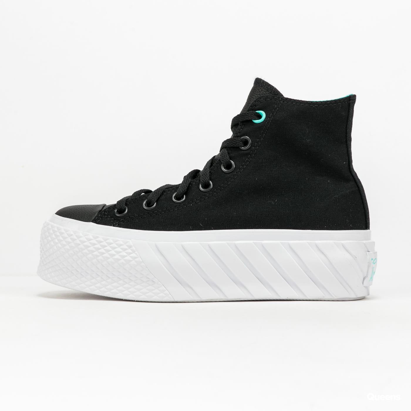 Converse Chuck Taylor All Star Lift 2X Hi black / electric aqua / white
