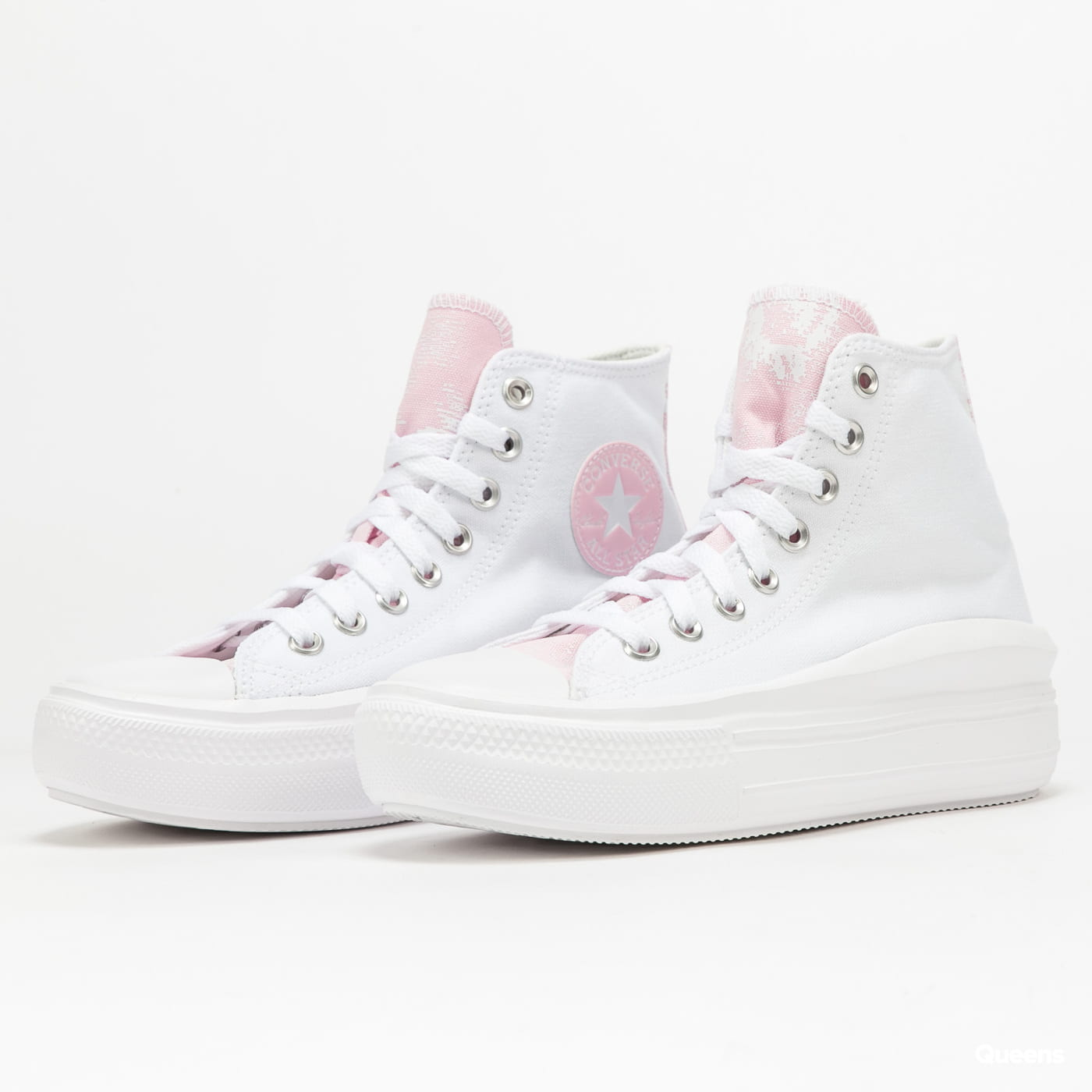 Converse Chuck Taylor All Star Move Hi white / pink foam / white