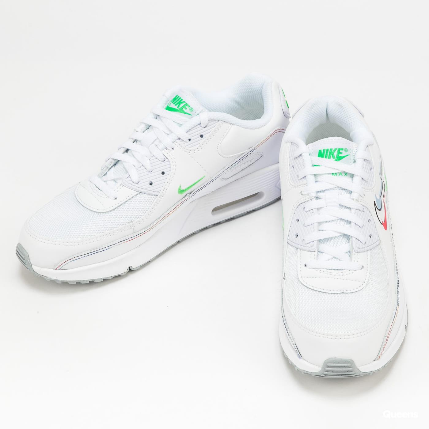 Nike Air Max 90 GS white / lt green spark - aluminum