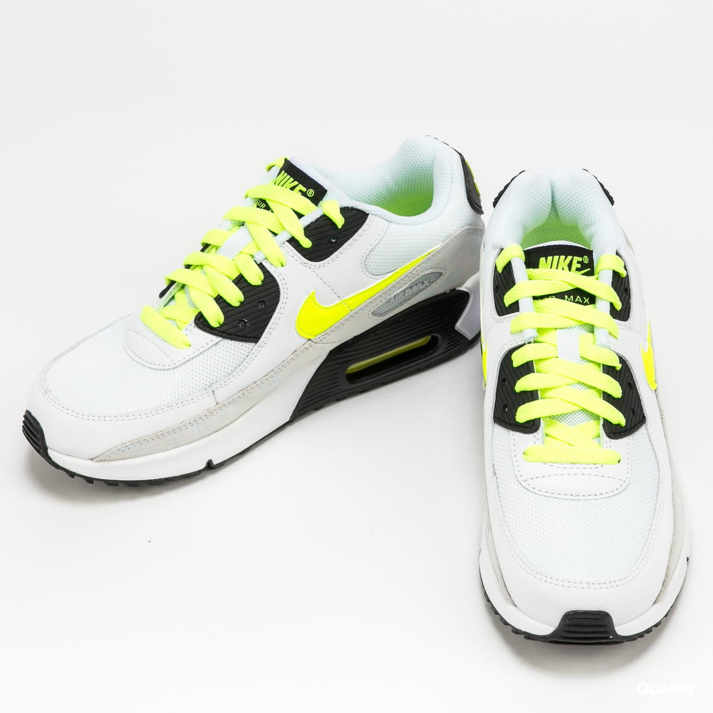 Nike Air Max 90 Leather (GS) white / volt - black - pure platinum