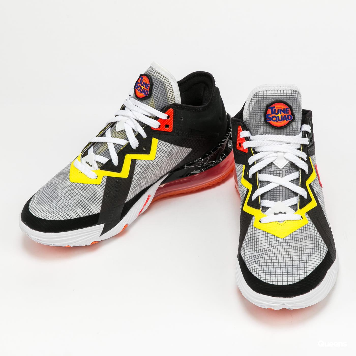 Nike Lebron XVIII Low white / bright crimson - black
