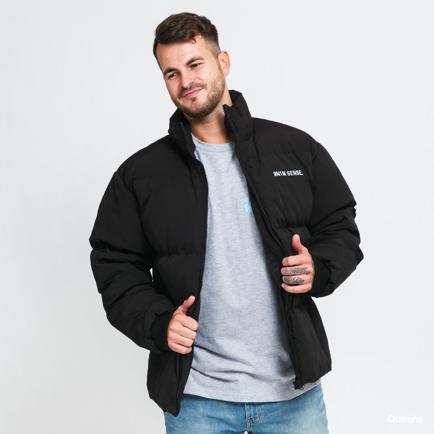 9N1M SENSE. Puffer Jacket černá