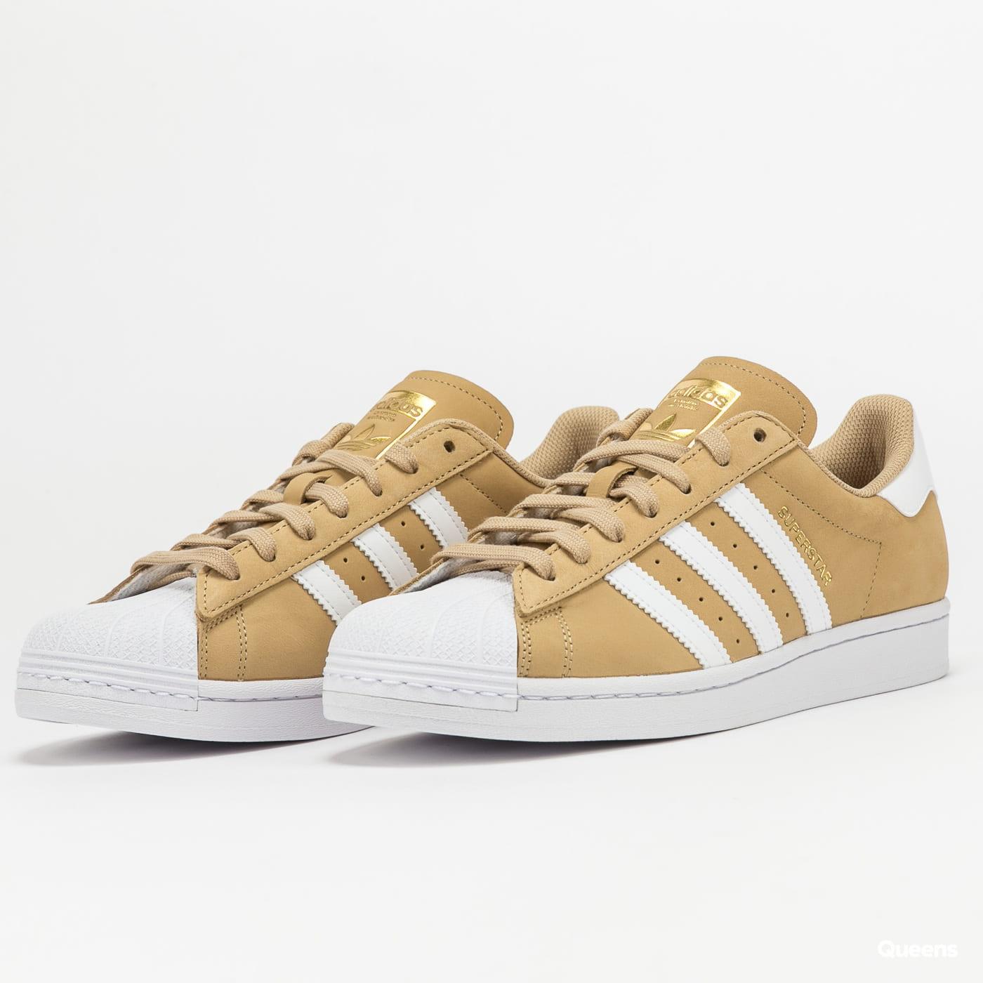 adidas Originals Superstar beiton / ftwwht / goldmt