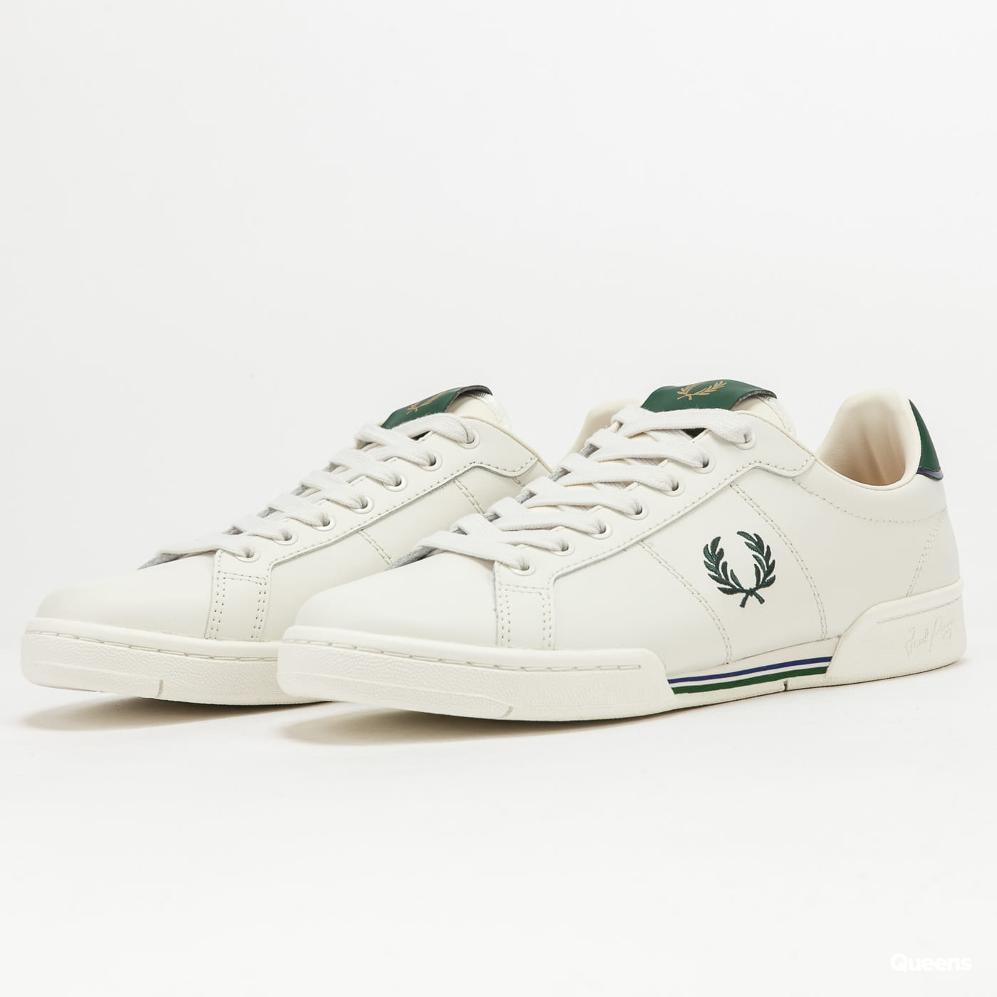 FRED PERRY B722 Leather porcelain