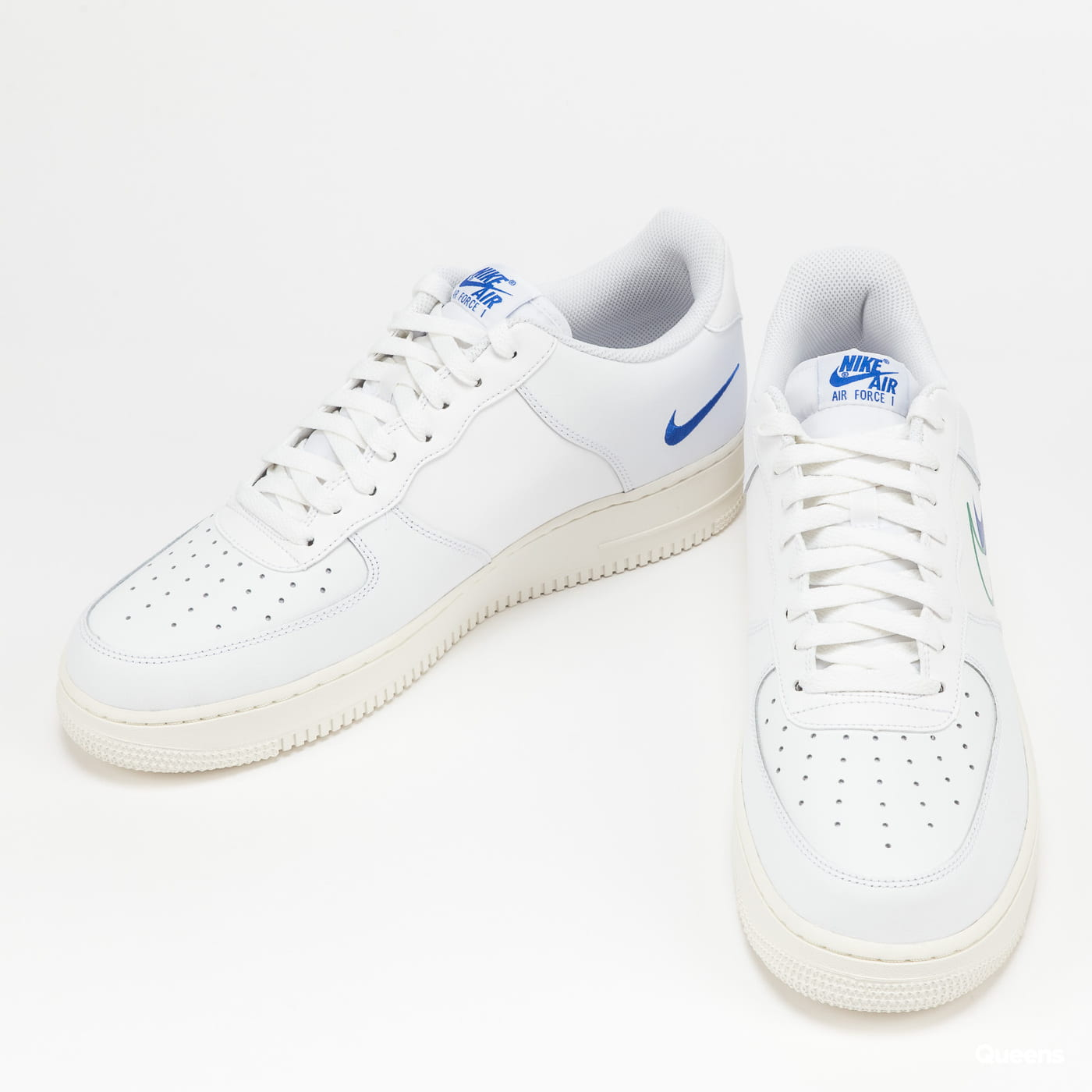 Nike Air Force 1 white / green noise - game royal