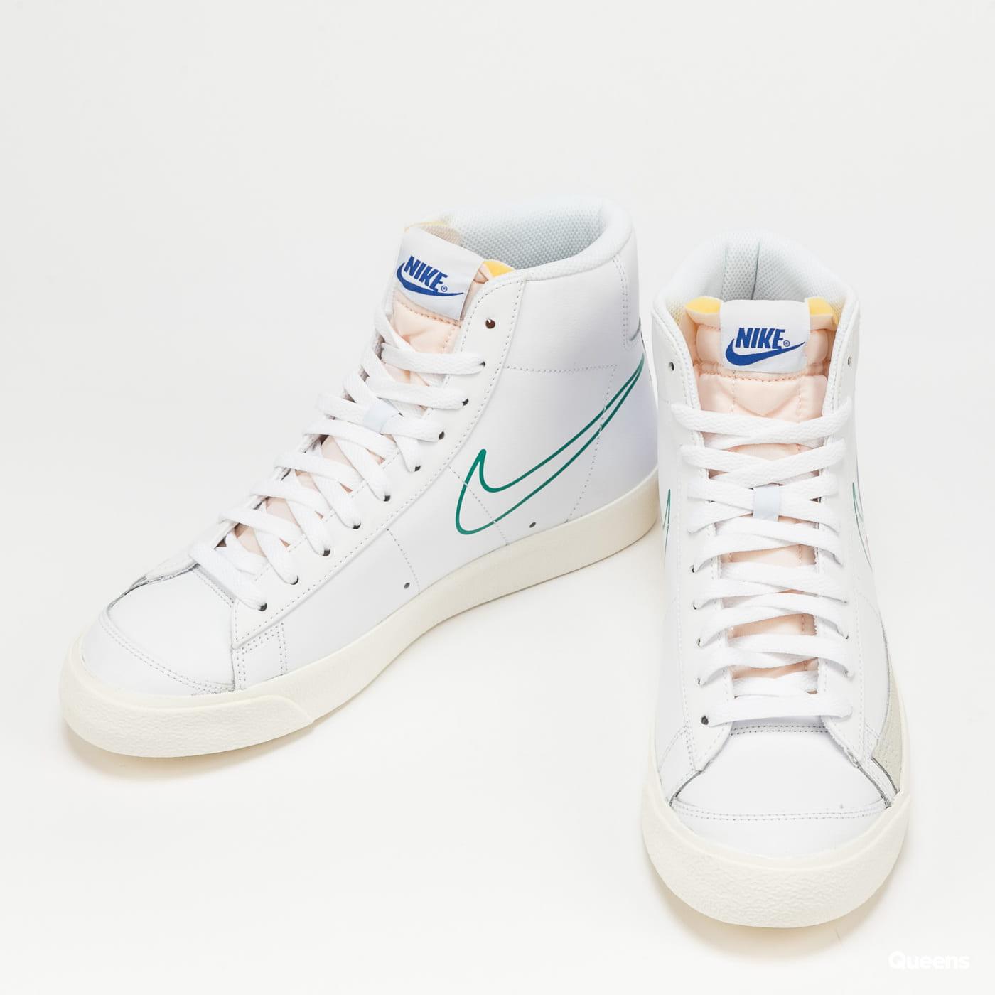 Nike Blazer Mid '77 white / green noise - game royal