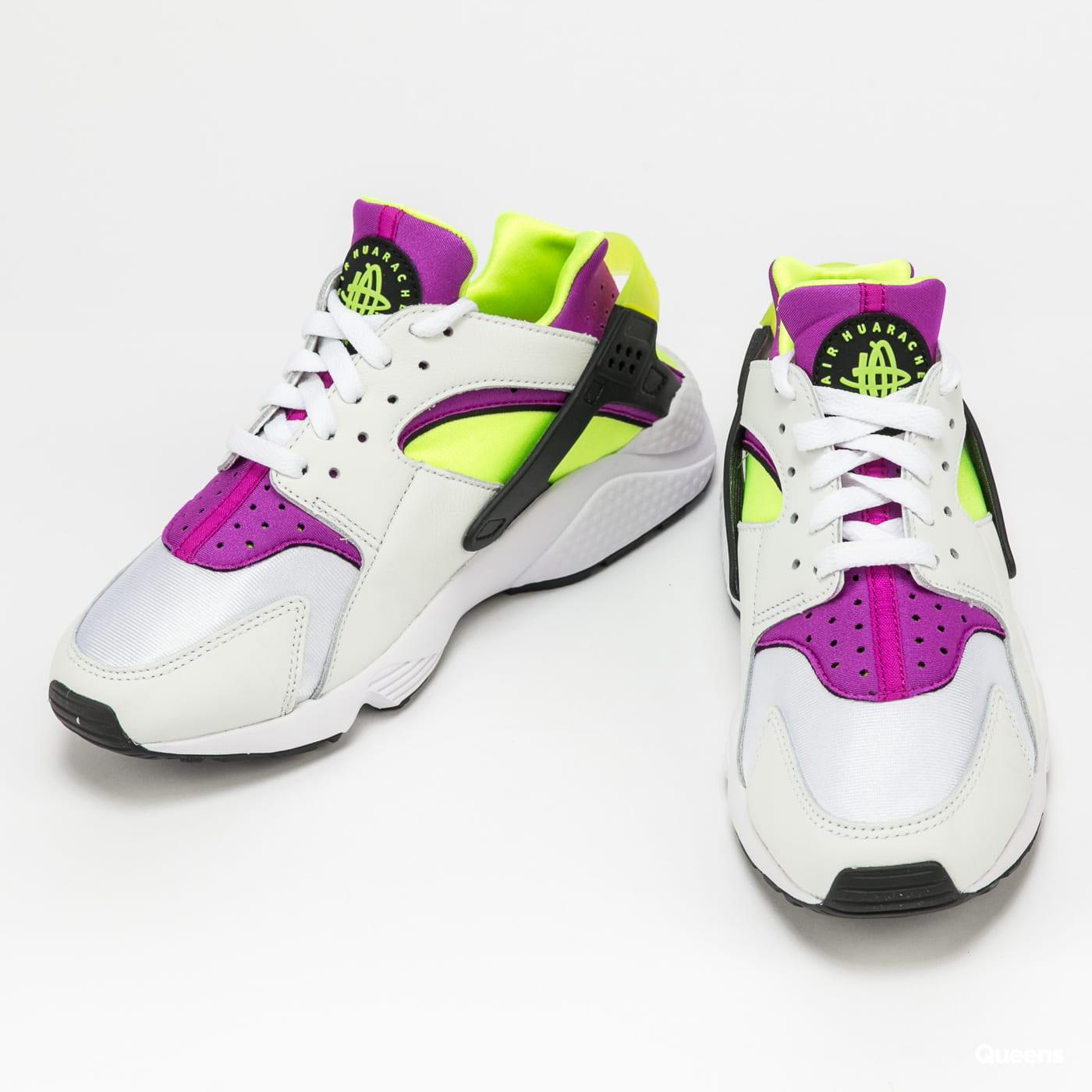 Nike W Air Huarache white / neon yellow - magenta