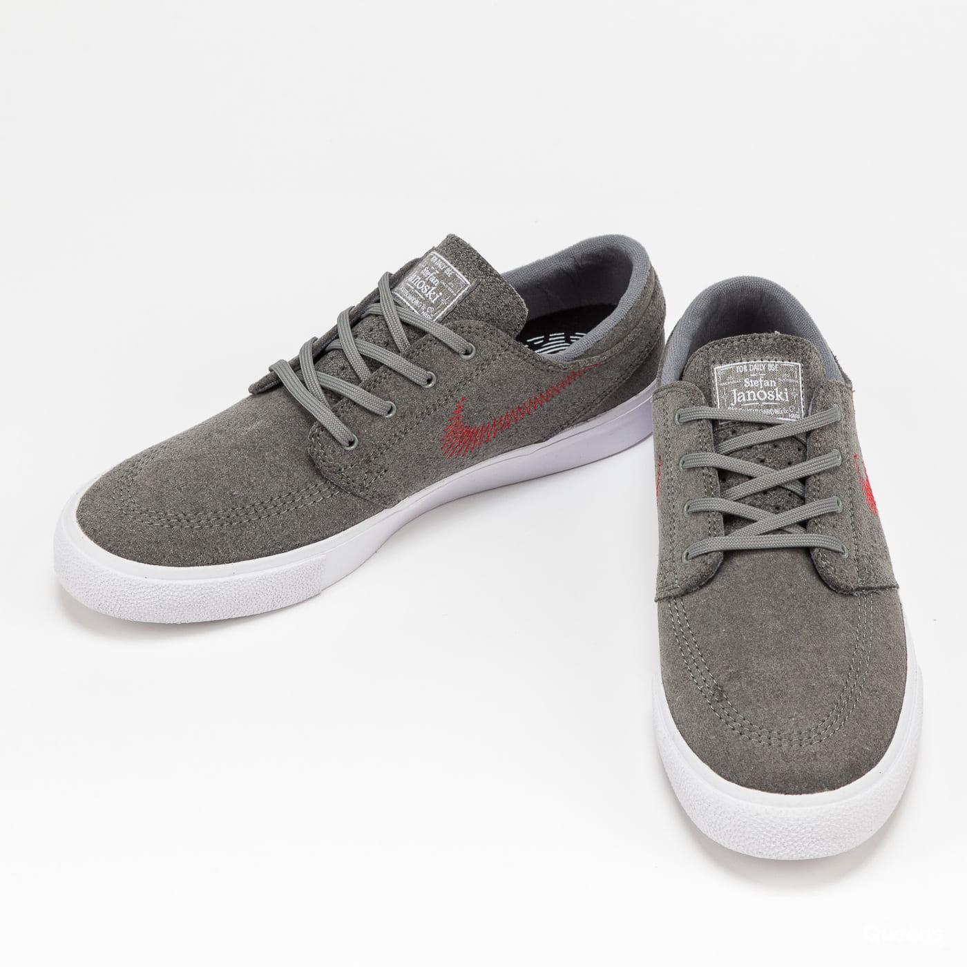 Nike Zoom Janoski Flyleather RM tumbled grey / university red