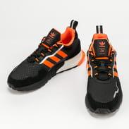 adidas Originals ZX 1K Boost - Seasonality core black / solar orange / silver metallic