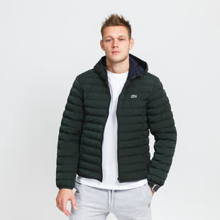 LACOSTE Lightweight Foldable Hooded Water-Resistant Puffer Coat