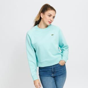 LACOSTE W Live Cropped Cotton Fleece Sweatshirt