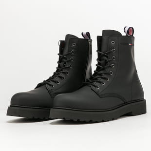 TOMMY JEANS Leather Lace Up Boot