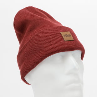 Urban Classics Synthetic Leatherpatch Long Beanie