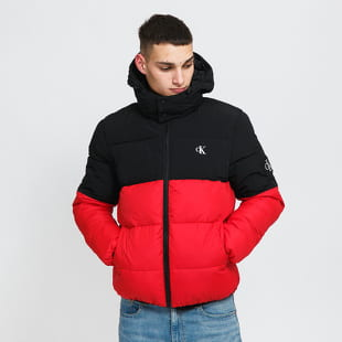 CALVIN KLEIN JEANS Colorblock Hooded Puffer