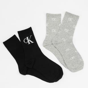 CALVIN KLEIN JEANS Womens 2Pack Allover Monogram Socks