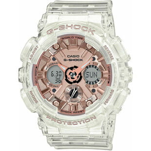"""Casio G-Shock GMA S120SR-7AER """"Series Transparent x Pink Gold Collection"""""""