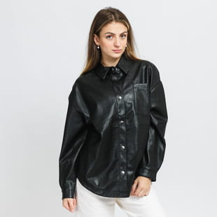Urban Classics Ladies Faux Leather Overshirt