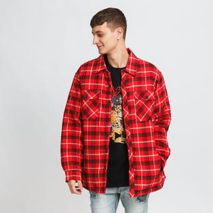 Urban Classics Plaid Quilted Shirt Jacket